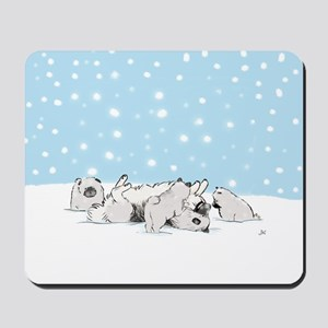 Keesie Snow Dogs Mousepad