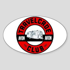 Avion Travelcade Club Roundel Sticker (Oval)