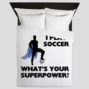 Soccer Superhero Queen Duvet