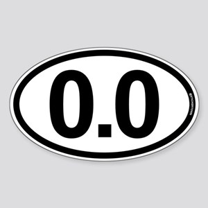 0.0 Zero Marathon Runner Sticker (Oval)