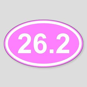 Pink 26.2 Marathon Sticker (Oval)