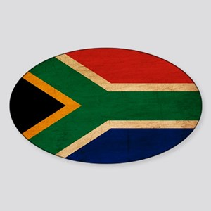 South Africa Flag Sticker (Oval)