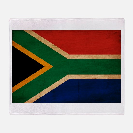 South Africa Flag Throw Blanket