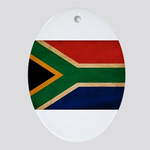 South Africa Flag Ornament (Oval)
