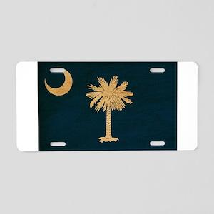 South Carolina Flag Aluminum License Plate