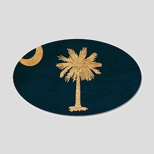South Carolina Flag 22x14 Oval Wall Peel
