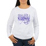 Submissive Wife (Purple) Women's Long Sleeve T-Shi