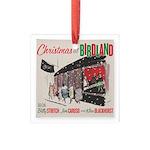 Christmas At Birdland Square Glass Ornament