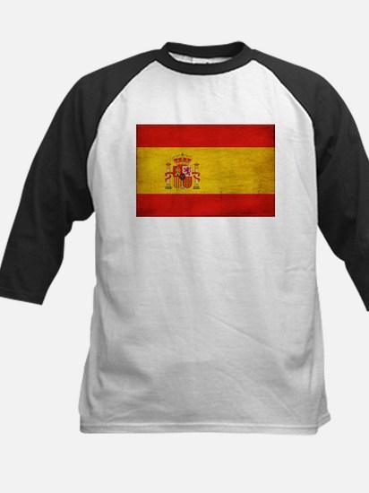 Spain Flag Kids Baseball Jersey