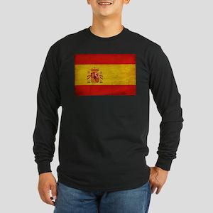 Spain Flag Long Sleeve Dark T-Shirt