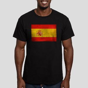 Spain Flag Men's Fitted T-Shirt (dark)