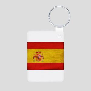 Spain Flag Aluminum Photo Keychain