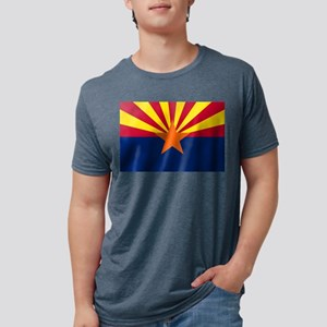 Flag of Arizona Mens Tri-blend T-Shirt