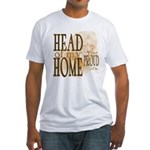 Head of my Home (Brown) Fitted T-Shirt