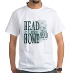 Head of my Home (Green) White T-Shirt