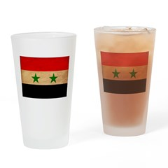 Syria Flag Drinking Glass