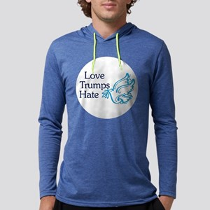 Love Trumps Hate Mens Hooded Shirt
