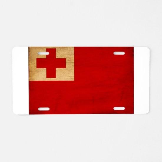Tonga Flag Aluminum License Plate