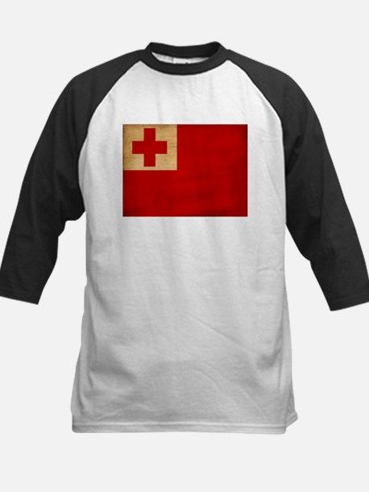 Tonga Flag Kids Baseball Jersey