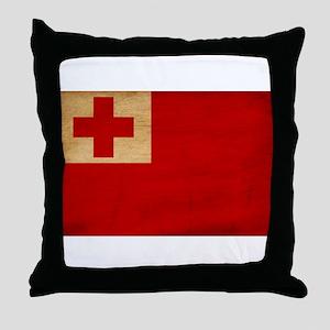 Tonga Flag Throw Pillow