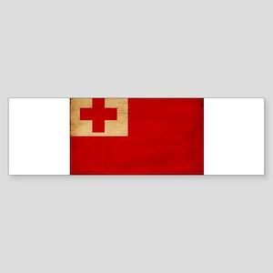 Tonga Flag Sticker (Bumper)