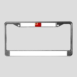 Tonga Flag License Plate Frame