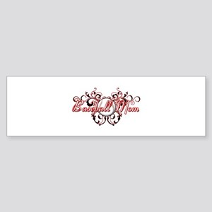 Baseball Mom (heart) Sticker (Bumper)