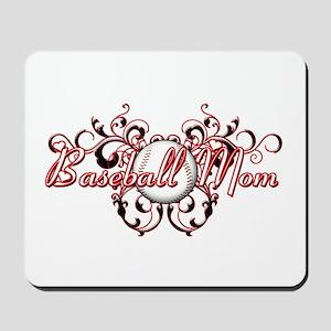 Baseball Mom (heart) Mousepad