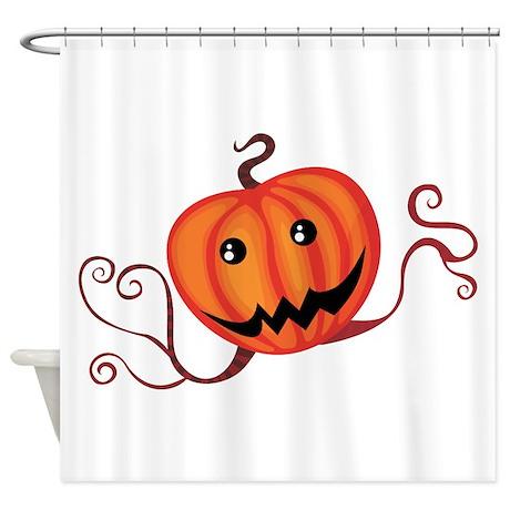 Spooky Pumpkin Shower Curtain