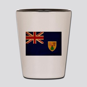 Turks and Caicos Flag Shot Glass