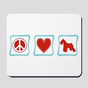 Peace, Love and Schnauzers Mousepad