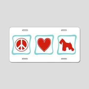 Peace, Love and Schnauzers Aluminum License Plate