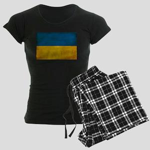 Ukraine Flag Women's Dark Pajamas