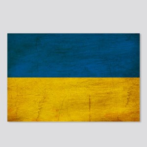 Ukraine Flag Postcards (Package of 8)