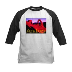 Arches National Park Kids Baseball Jersey