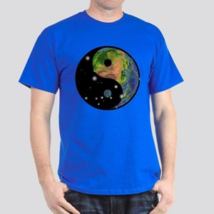 Yin Yang Earth Space Dark T-Shirt