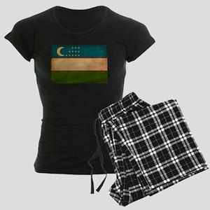 Uzbekistan Flag Women's Dark Pajamas