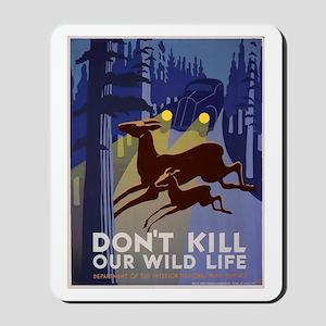 Wild Life WPA Poster Mousepad