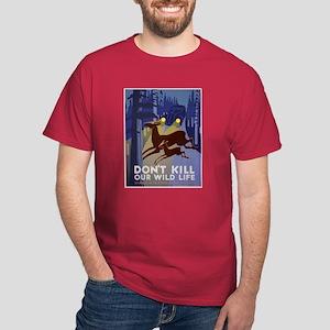 Wild Life WPA Poster Dark T-Shirt