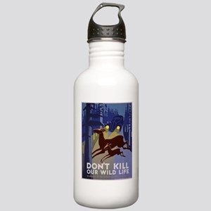 Wild Life WPA Poster Stainless Water Bottle 1.0L
