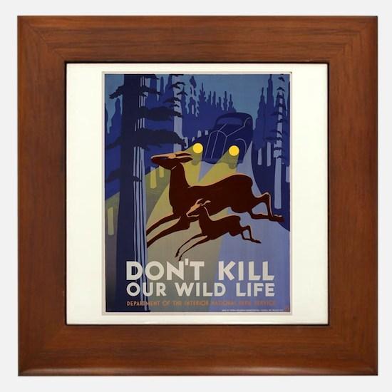 Wild Life WPA Poster Framed Tile