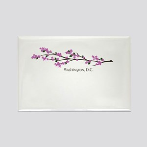 Washington, DC Cherry Blossom Rectangle Magnet