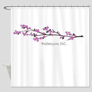 Washington, DC Cherry Blossom Shower Curtain