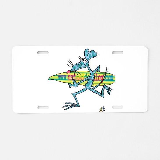 Surf Rat by Tamara Warren Aluminum License Plate