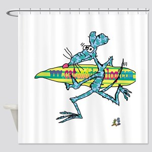 Surf Rat by Tamara Warren Shower Curtain