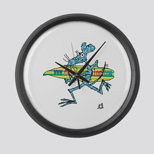 Surf Rat by Tamara Warren Large Wall Clock