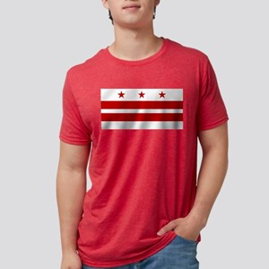Washington DC Flag Mens Tri-blend T-Shirt