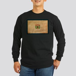 West Virginia Flag Long Sleeve Dark T-Shirt