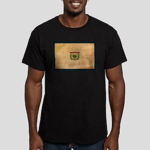 West Virginia Flag Men's Fitted T-Shirt (dark)