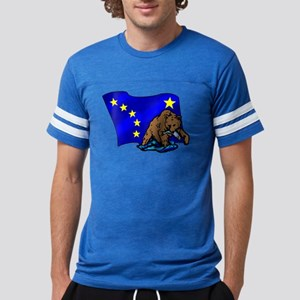 Alaskan Bear Flag Mens Football Shirt
